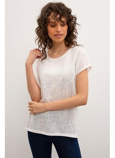 U.S. Polo Assn. U.S Polo Assn. Kadın Tişört 986742-VR184 986742-VR184024 Beyaz